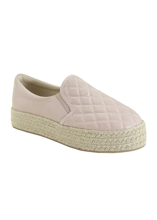 ESPADRILLE SLIP ON QUILTED PU FLAT - orangeshine.com