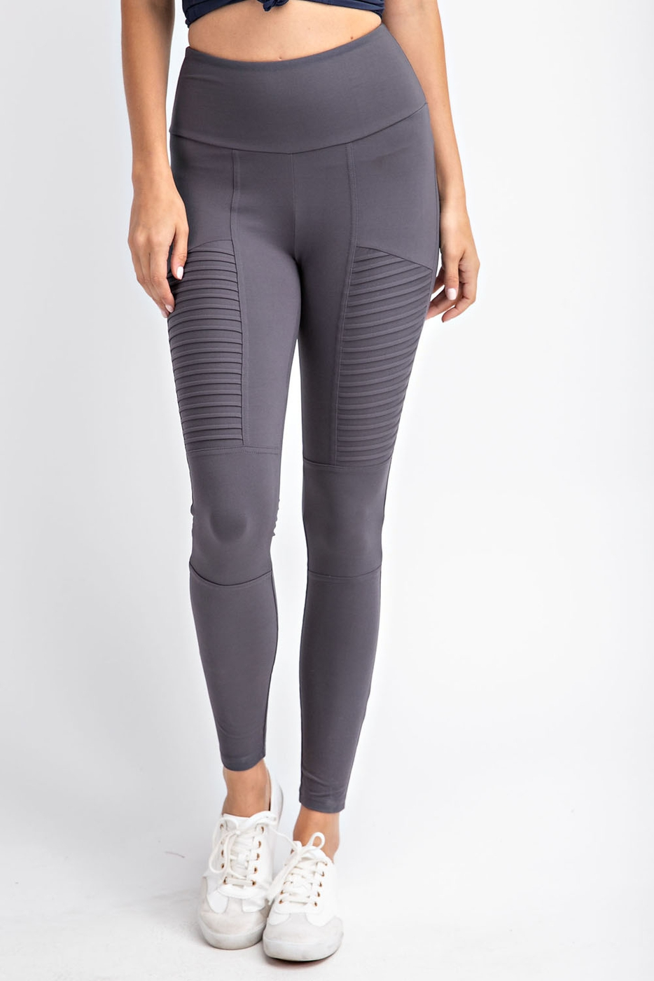 PLUS SIZE HIGH WAIST SOLID LEGGINGS - orangeshine.com