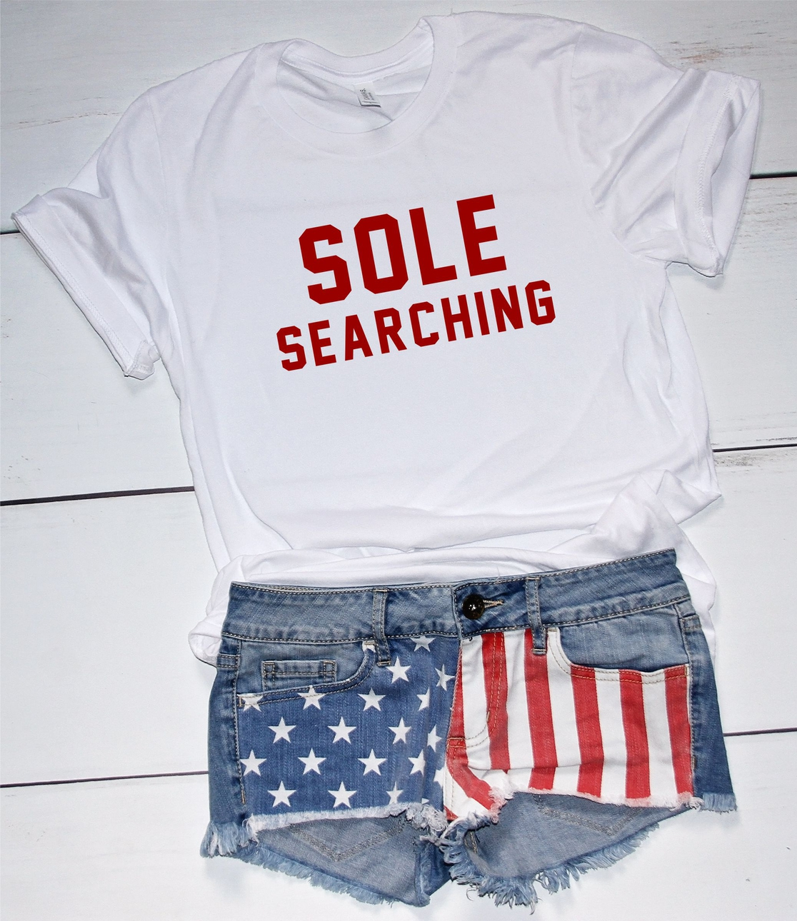 Sole Searching Softstyle Tee  - orangeshine.com