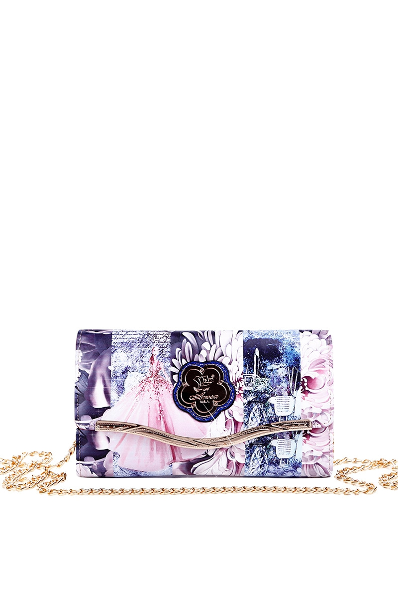 Blossom Spring Chained Clutch Wallet - orangeshine.com