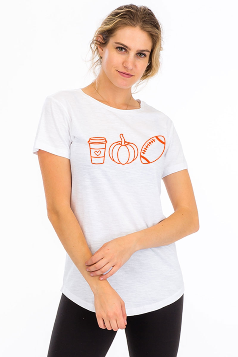 WOMEN FIT SLUBBY SCALLOP BOTTOM TEE - orangeshine.com