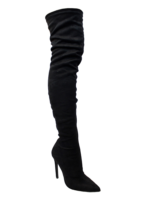 THIGH HIGH POINTY TOE HIGH HEEL - orangeshine.com