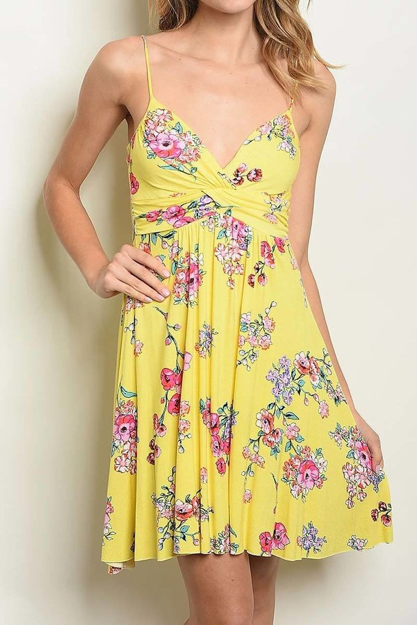 FLORAL PRINT BABY DOLL DRESS - orangeshine.com