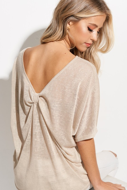 Low back Detail Femme Top - orangeshine.com