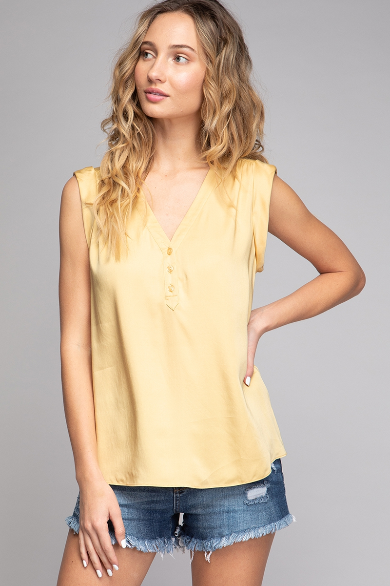 V-NECK SLEEVELESS BLOUSE - orangeshine.com