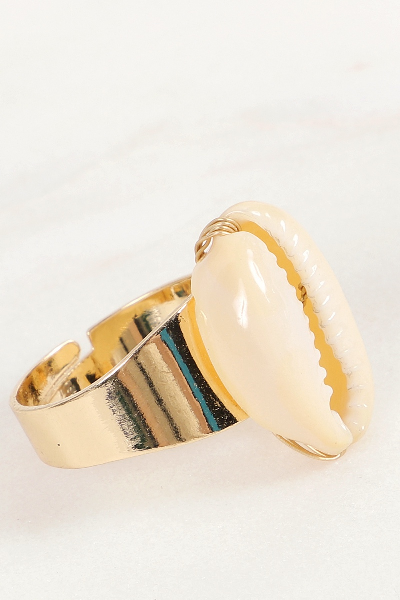Cowrie Shell Ring - orangeshine.com