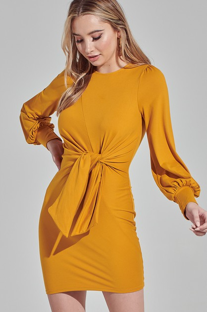 BUBBLE SLEEVE DRESS - orangeshine.com