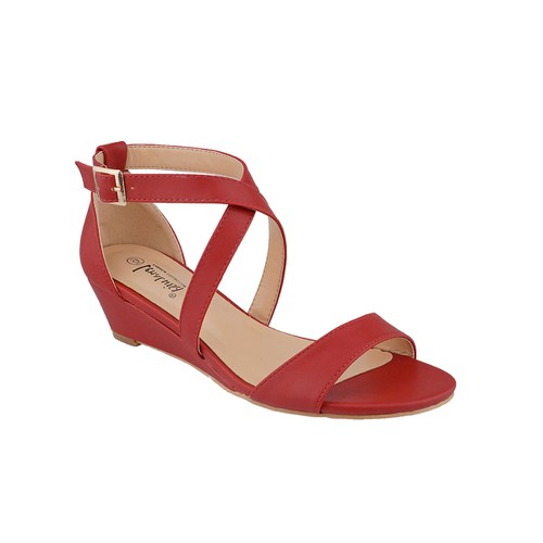 LENALUISA WRAPPED WEDGE SANDAL - orangeshine.com