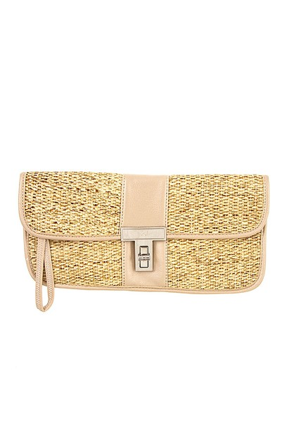 WOVEN STRAW CLUTCH SHOULDER BAG - orangeshine.com