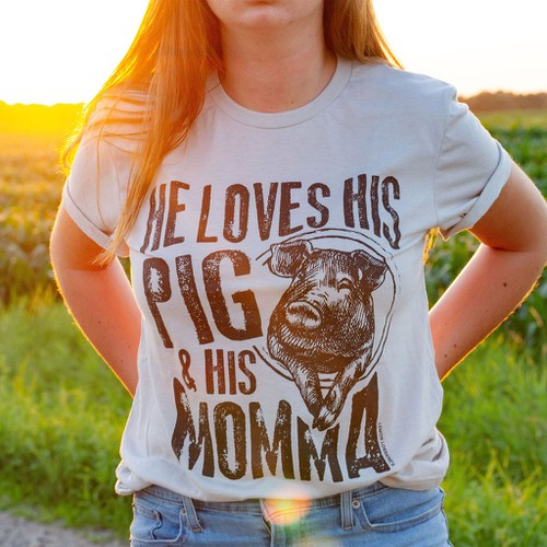He Loves His Pig and Momma - orangeshine.com