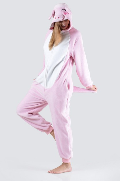 Pink Piggy Animal Onesie Pajama - orangeshine.com