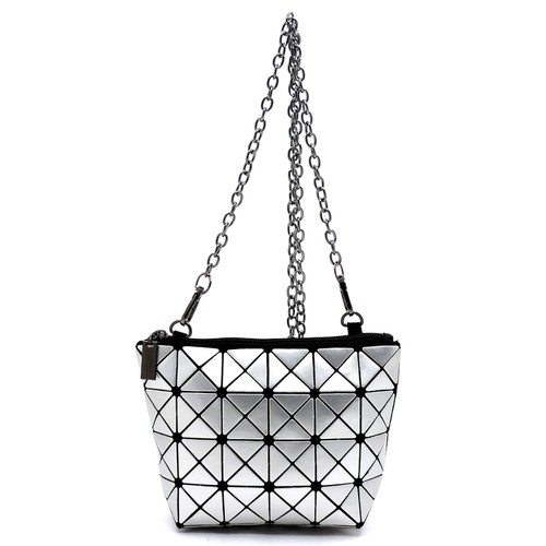 Geometric Checker Clutch Crossbody  - orangeshine.com