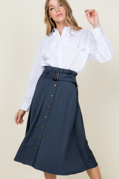 Button down A line skirt - orangeshine.com
