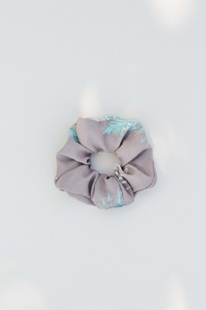 Grey Blue Hair Scrunchie - orangeshine.com