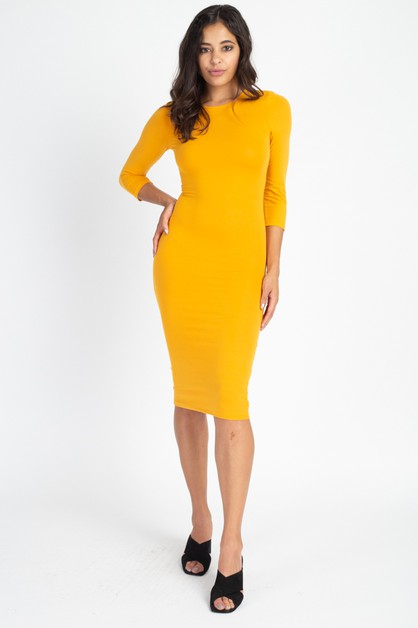 Crew neck Dress - orangeshine.com