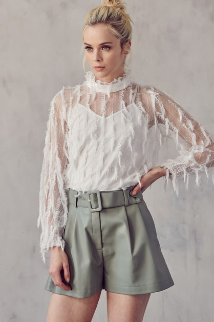 TEXTURED BLOUSE - orangeshine.com