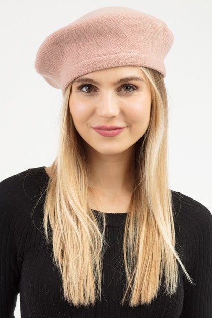 STRETCHY SOLID BERET - orangeshine.com