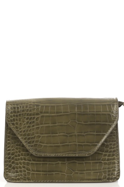 Faux Alligator Skin Shoulder Bag - orangeshine.com