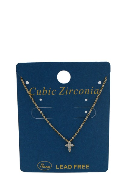 CROSS Cubic Zirconia  NECKLACE  - orangeshine.com