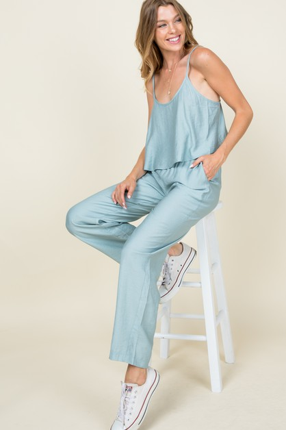 Cami top and straight pants set - orangeshine.com