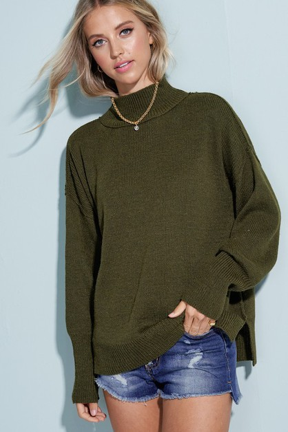Luxy Turtleneck Sweater - orangeshine.com