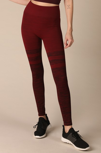 Melange Layered Leggings - orangeshine.com