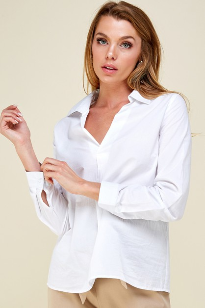Front pleated shirt - orangeshine.com