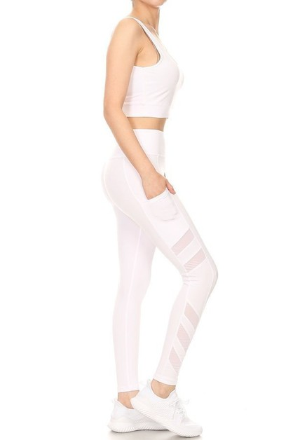 2 Pieces Yoga Sets Activewear Mesh  - orangeshine.com