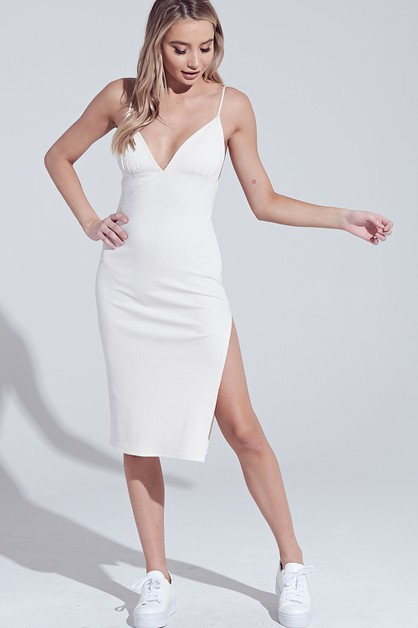 CAMI BODYCON MIDI DRESS - orangeshine.com