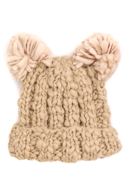 Crochet Knit Teddy Beanies - orangeshine.com