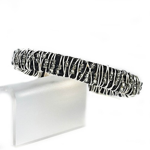 Wrapped Silver Beaded Stack Bracelet - orangeshine.com