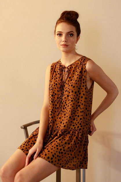 Animal printed mini dress - orangeshine.com