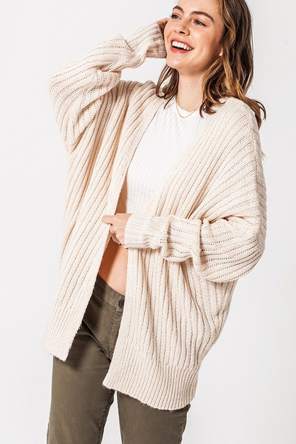 DOLMAN SLEEVE OPEN SWEATER  - orangeshine.com
