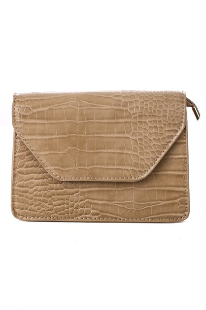 Faux Leather Flap Side Bag - orangeshine.com