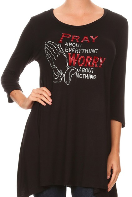 PRAY About Everything  Dress - orangeshine.com