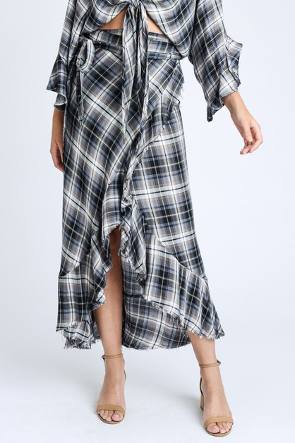 MAXI PLAID SKIRT - orangeshine.com