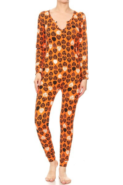 Orange Pumpkin Halloween Onesies Set - orangeshine.com