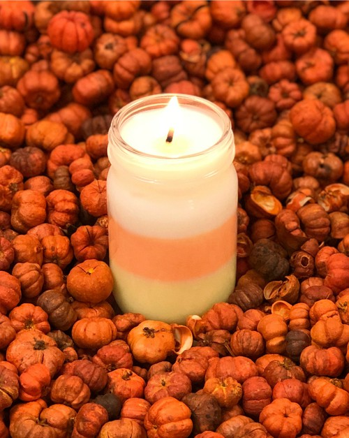 Candy Corn 6 oz Soy Wax Candle - orangeshine.com