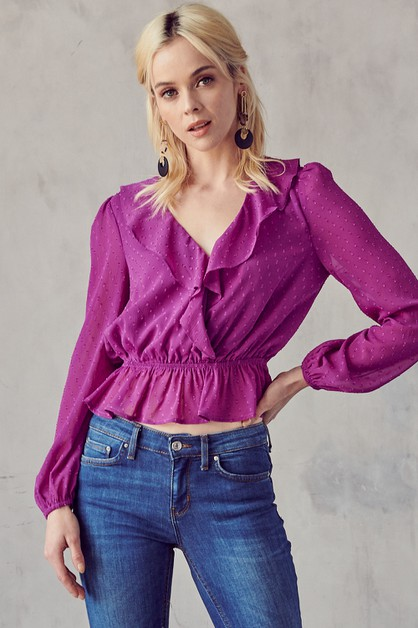 RUFFLE DETAILED BLOUSE - orangeshine.com
