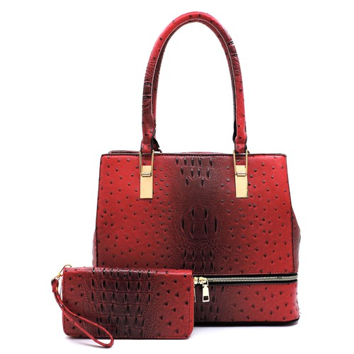 Ostrich Croc Top Handle 2-in-1 - orangeshine.com