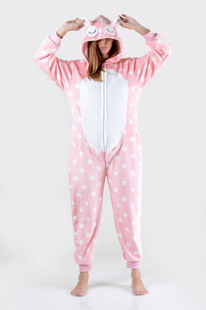 Llama Star Print Animal Onesie  - orangeshine.com