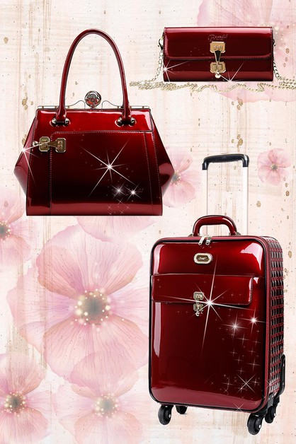 Euro Moda Matching Luggage Set - orangeshine.com