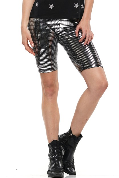 METALLIC STRETCH BIKE PANTS - orangeshine.com