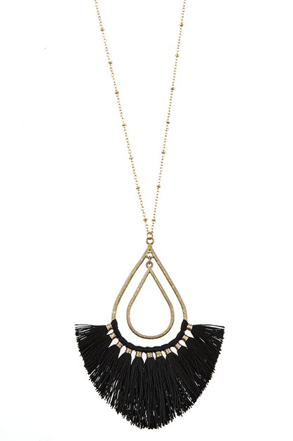 ELONGATED TEARDROP FRINGE PENDANT NE - orangeshine.com