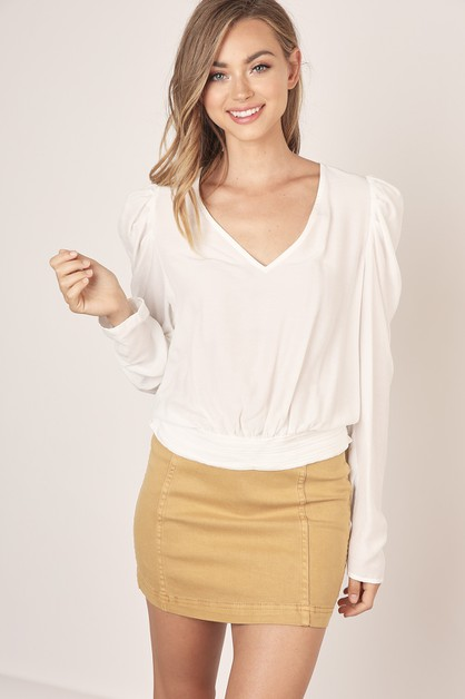 V-NECK BLOUSE - orangeshine.com
