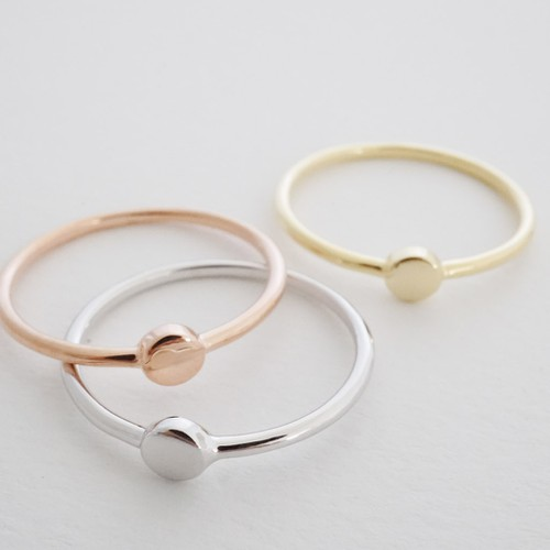 Tiny Circle Ring - orangeshine.com