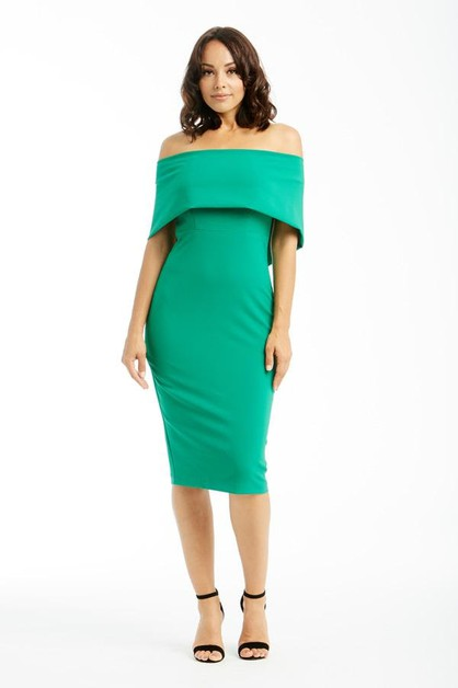 Off Shoulder Midi Dress - orangeshine.com