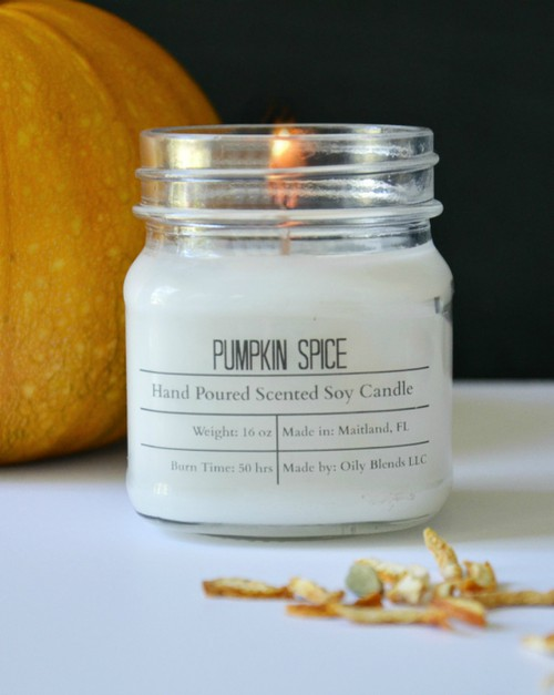 Fall Soy Wax Hand Poured Candles - orangeshine.com