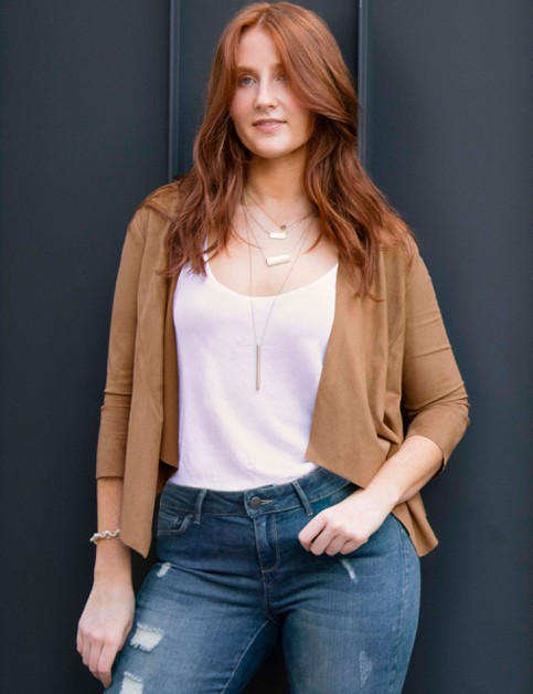 Three Quarter Sleeve Shrug Cardigan - orangeshine.com