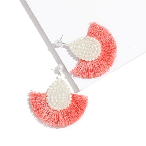 Pearl drop tassel earrings - orangeshine.com